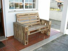 posezení z palet - Hledat Googlem Reuse Recycle, Recycling, Porch Swing, Outdoor Furniture, Outdoor Decor, Living Spaces, Bench, Architecture, House