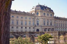Rückseite der Residenz Würzburg