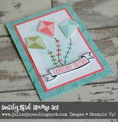Julie Kettlewell - Stampin Up UK Independent Demonstrator - Order products 24/7: Swirly Bird Kites