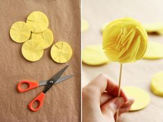 DIY Tissue Cupcake Toppers || PHOTO SOURCE • 6 BITTERSWEETS