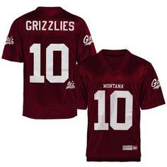 ee46b4ab4 Montana Grizzlies Maroon Fan Football Jersey - FansEdge.com Grizzlies Jersey