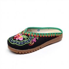 24.19$  Buy now - http://vingr.justgood.pw/vig/item.php?t=q9d57zg17237 - Chinese Embroidery Shoes embroidered Canvas Shoes dancing shoes black