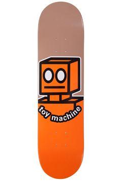 """Toy Machine Orange Robot  8.0"""" - Deck Only. Width:20.3 cm / 8"""""""