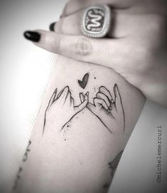 Friend Tattoos – I'd love to get this with my girls – Couple Tattoos Finger Tattoos, Bff Tattoos, Best Friend Tattoos, Word Tattoos, Mini Tattoos, Disney Tattoos, Trendy Tattoos, Unique Tattoos, Body Art Tattoos