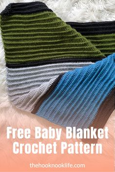 Make this simple textured baby blanket using the free crochet pattern on The Hook Nook Life Blog today! Diy Crochet Patterns, Crochet Patterns For Beginners, Crochet For Kids, Easy Crochet, Free Crochet, Diy Crafts List, Front Post Double Crochet, Free Baby Stuff, Baby Blanket Crochet