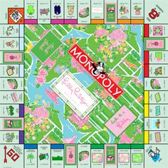 How utterly amazing is this Lilly Pulitzer monopoly board? I'm huge when it comes to monopoly alone, so this is just crazy awesome! - S