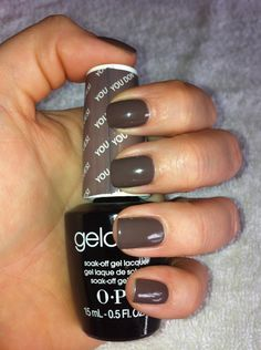 of my fave colors.LOVE my 2 week gel manicures! opi gel You don't know Jac. of my fave colors.LOVE my 2 week gel manicures! opi gel You don't know Jac. Opi Gel Nail Colors, Opi Gel Nail Polish, Fall Gel Nails, Gel Polish Colors, Opi Nails, Opi Shellac, Acrylic Nails, Gel Zehen, Nail Art Cute