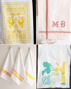 More beautiful tea towels