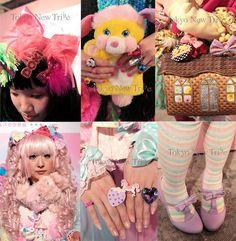 FAIRY DECORA HARAJUKU GIRLS STYLE, harajuku style tribes, fairy kei, spank, 6% dokidoki, tavuchi green hair japanese girl,Tokyo street snaps, japanese streets, cute tokyo women's clothes, vintage 1980s fashion, spankworld japan