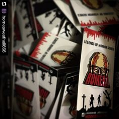 No words to express the amount of joy I feel at seeing this. It was such an honor to work with the amazing @thebobmelvin and @inborndesigns on this dream collab. Thanks so much to everyone who has supported us so far. I'm humbled and so so grateful.  #Repost @homesweethell666  Spent the night fulfilling & packing orders. I'm psyched to say that we are 100% caught up! George Romero pins are shipping tomorrow. Thank you all for snatching these up as quick as you did. @srgreenhaw did a fucking…