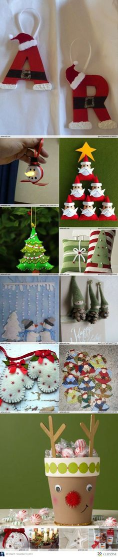 Christmas Crafts - I really.like the mittens this would be great to stuff with cloves and cinnamon