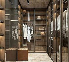 58 Stunning Walk in Closet Decorating and Design Ideas - Bedroom Closet Design, Bedroom Wardrobe, Wardrobe Design, Closet Designs, Sliding Wardrobe Doors, Walk In Wardrobe, Walk In Closet, Closet Accessories, Hanging Clothes