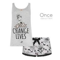 PRIMARK Ladies DISNEY PRINCESS Collection CINDERELLA Vest and Shorts Pyjama Set #Primark #PyjamaSets #Everyday