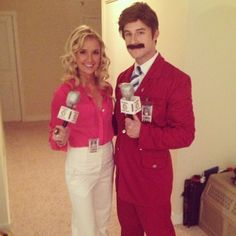 Ron Burgundy and Veronica Corningstone - probably the best couple's  costume I've seen.