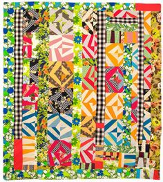 Love the columns and vertical elements. (nifty quilts: My Favorite Quilt)