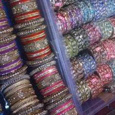 Bling! - love the bracelets that go with Indian Wear