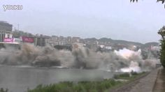 AMAZING FOOTAGE: BRIDGE is DEMOLISHED in THREE SECONDS in CHINA 桥被拆除三秒