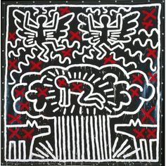 """Keith Haring """"The New Yorkais"""" Speedy Graphito. The show represents the career of Haring during his short life and makes us aware of his use of art to campaign for social justice. The state, capitalism, religion, mass media, racism, ecocide, children's health, crack, AIDS – all feature."""