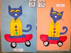 Pete the Cat and His Four Groovy Buttons Craft - love Pete the Cat's back to school in my cool shoes book!