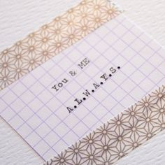 You & ME always handmade Greetings card by mondaland on Etsy