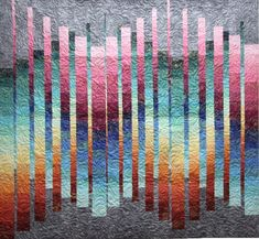 Two opposing bargello designs flow together to create movement in this dynamic wall quilt pattern. Sample quilt features Northcott's Artisan Spirit — Shimmer collection. Bargello Quilt Patterns, Bargello Quilts, 3d Quilts, Strip Quilts, Easy Quilts, Quilt Blocks, Scrappy Quilts, Quilting Patterns, Quilting Ideas