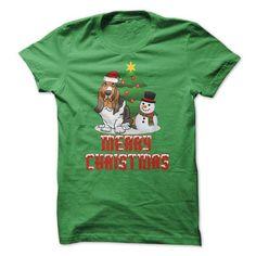 Merry Christmas -… https://www.sunfrog.com/Pets/Merry-Christmas--Christmas-Basset-Hound.html?64708