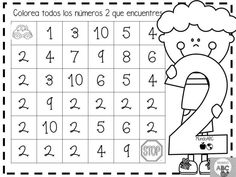 Creativas actividades para el trazo de los números del 1 al 5 para preescolar y primer grado de primaria   Educación Primaria Numbers Preschool, Math Numbers, Free Preschool, Learning Numbers, Grade R Worksheets, Preschool Worksheets, I Love Math, Fun Math, Kindergarten Math Activities