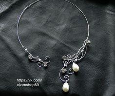 Celtic Elven collar joyería nupcial esterlina por ElvenShop69