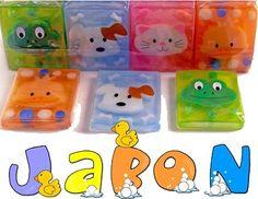 Detalles infantiles. Jabón glicerina motivos animalitos Medidas: 7 x 9 x 1 cm Peso: 90 gr.