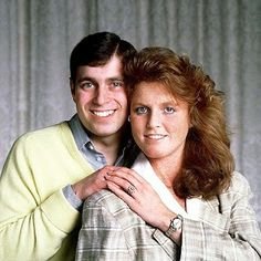 Prince Andrew and Sarah Ferguson's Engagement Photo, 1986.