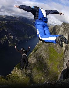 Base Jumping...this is one i'm not making any plans for...but maybe someday. via Travis Nelson