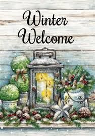Tina Wenke / Warm winter welcome House Flag Pole, House Flags, Flag Pole Stand, Welcome Images, Garden Flag Stand, Yard Flags, Outdoor Flags, Flag Decor, Rustic White