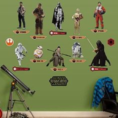 Star Wars The Force Awakens Collection Peel and Stick Wall Decals