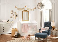 Pottery Barn's First Nursery Collection Is Seriously Chic via Brit + Co