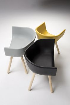 The Tulip Armchair is a contemporary choice for any commercial environment. The contrast of the soft polyurethane shall against the natural ash legs, makes for a striking, yet comfortable chair. Design Furniture, Unique Furniture, Contemporary Furniture, Chair Design, Home Furniture, Colorful Chairs, Cool Chairs, Novo Design, London Design Week