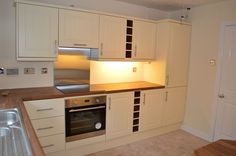 Refurbished Cream Kitchen Units  Crewe  Cheshire - Kitchen Wizard- Kitchen renovations, replacement kitchen doors and fitted kitchens