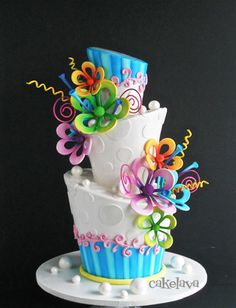 whimsical floral wedding cake by Rick Reichart, cakelava