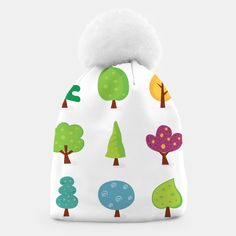 Amazing Creative beanie with Green trees, Live Heroes Green Trees, Unique Image, Beanies, Make It Yourself, Live, Amazing, Creative, Illustration, Shop