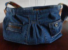 Tas gemaakt uit oude spijkerbroek