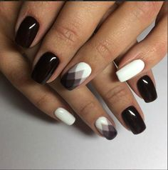 nails | manicure | black and white nails | nail art |
