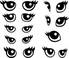 Silhouette Online Store - View Design #9119: animal eyes single 1 piece per eye