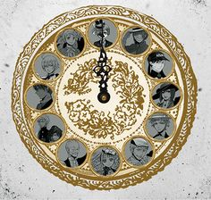 Black Butler Clock with manga and anime characters gif
