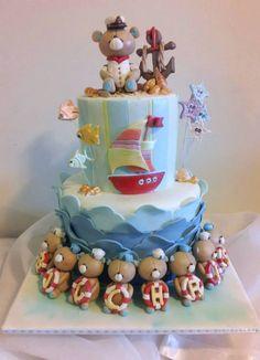 Sailor Bear themed cake.