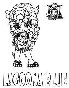 Baby Lagoona printable coloring sheet from JadeDragonne at Deviant Art