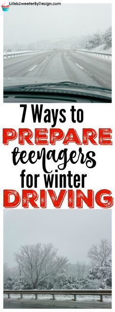 7 ways to prepare your teen for winter weather driving are super important. Teaching our teens how to drive in bad weather is vital to their safety! Raising Teenagers, Parenting Teenagers, Kids And Parenting, Parenting Hacks, Parenting Classes, Peaceful Parenting, Parenting Styles, Driving Teen, Driving Rules