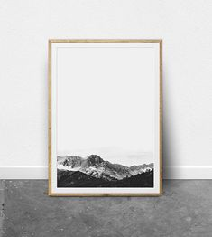 PRINTABLE WALL ART - Black and white, minimalist, mountain photography print.  **** SPECIAL OFFER **** Buy 2, Get 4!**** Select four prints and use code 4FOR2 during checkout to receive 2 of them free! You only pay for 2! ****   INSTANT DOWNLOAD Download instantly and print from home! This listing is for a digital file. The art files have been setup to download and print easily and instantly from your own home in various sizes! After checkout you will be directed to your download page, where…