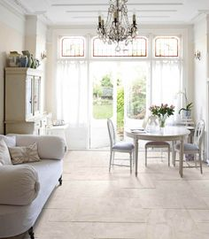 The Versailles Pattern in Stone allows for a design flexibility that is an enviable addition to any interior design plan. The pattern is capable of producing an 18th century French elegance and an open, airy architectural style so in demand in fashion forward circles today.