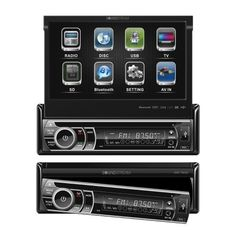 """Soundstream VIR-7832Bi Bluetooth Enabled 1-DIN In-Dash DVD Receiver with 7"""" Touchscreen and USB/SD Inputs w/ Remote and Ipod cable by Soundstream. $209.99. Motorized Angle Adjustment Detachable Theft Deterrent Front Panel Playback from DVDR/RW, CDR/RW, & 32GB SD Card or USB Flash Drive of MP3, MP4, & DivX     AUX A/V Input for Personal Media Devices     Dual Zone for Rear Seat or Overhead Entertainment     Programable Open or Closed Positioning After Use     MP3 ID3 Tag R..."""
