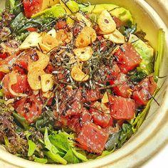 Poke is  Poke is life! @ChikarashiNYC Only quality ingredient can produce this beautiful Goma Shoyu Tuna Poke Bowl! Fresh Flavorful and Fun. Congratulations on the grand opening #Chikarashi in the heart my stomping grounds that is #LowerEastSide! #tuna #poke #seafood #seefooddiet #OMGitsbomb #bombdotcom