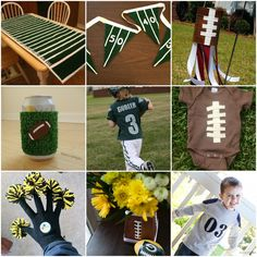 Cute football crafts. Need to save this for next year!
